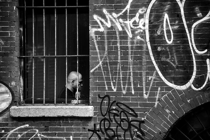 New York City.  Behind Bars
