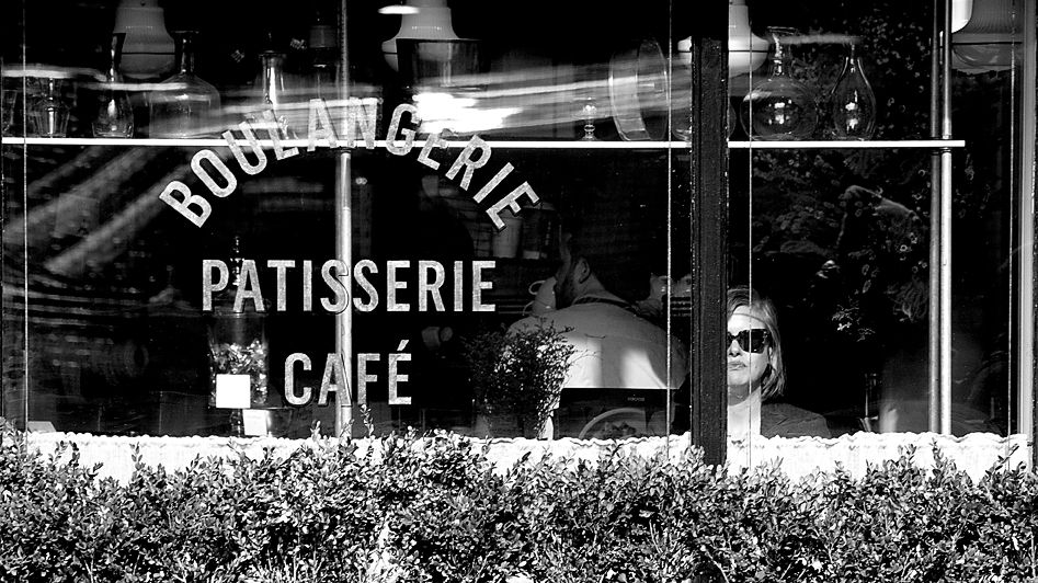 New York City.  Boulangerie in the Sun