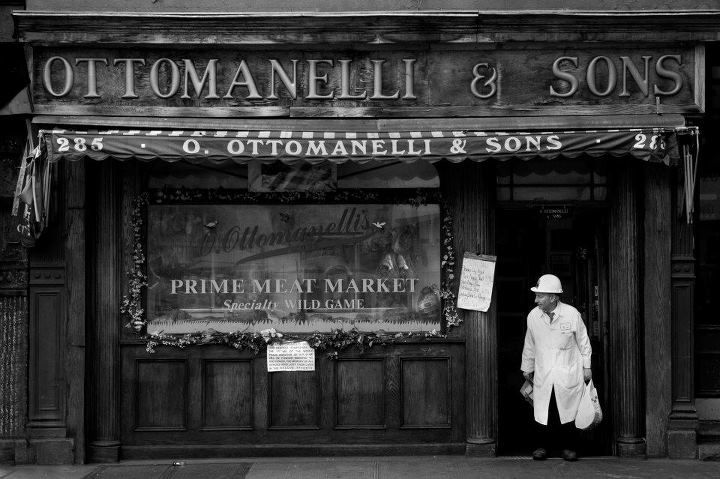 New York City.  Ottomanelli Butchers, Bleecker Street